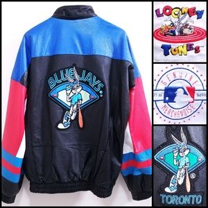 Looney Tunes TORONTO BLUE JAYS Leather Jacket